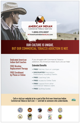 American Indian Quit Line Poster