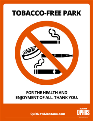 "12""x18"" Tobacco-free Free Metal Park Sign"