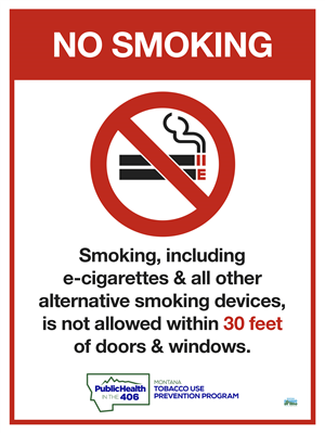 Downloadable 30ft Smoking Distance Sign