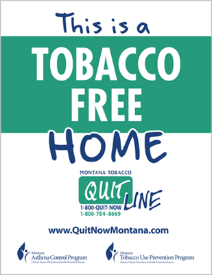 Quitline Asthma House Cling