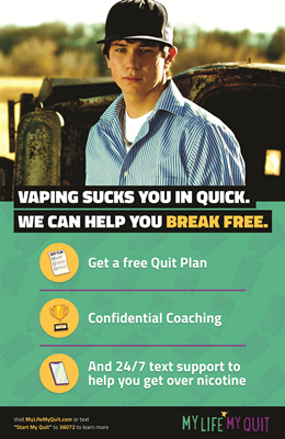 11x17 My Life My Quit Vaping Poster 2