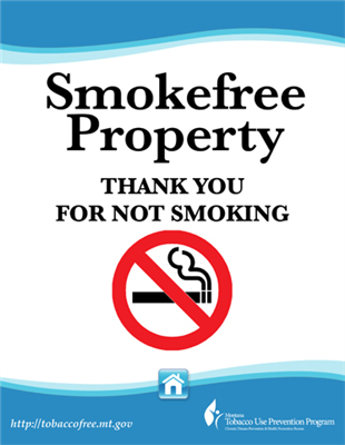 "12""x18"" Smokefree Metal Housing Sign"