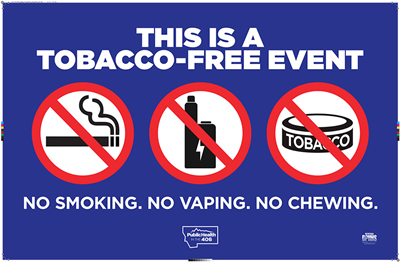 Downloadable Tobacco Free Event Decal