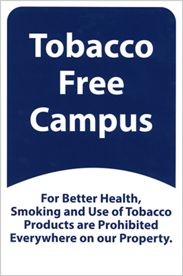 12x18 Tobacco Free Medical Metal Sign