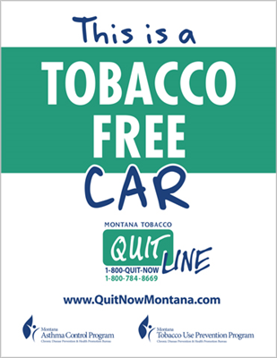 Quitline Asthma Car Cling